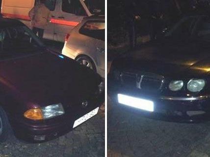 Diese beiden Schlepperfahrzeuge wurden von der Polizei sichergestellt.