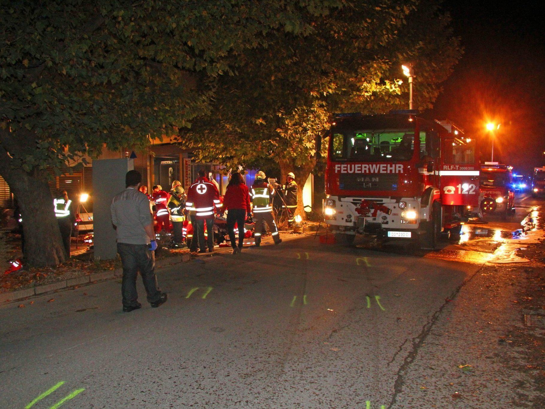 Tödlicher Verkehrsunfall in Dornbirn.