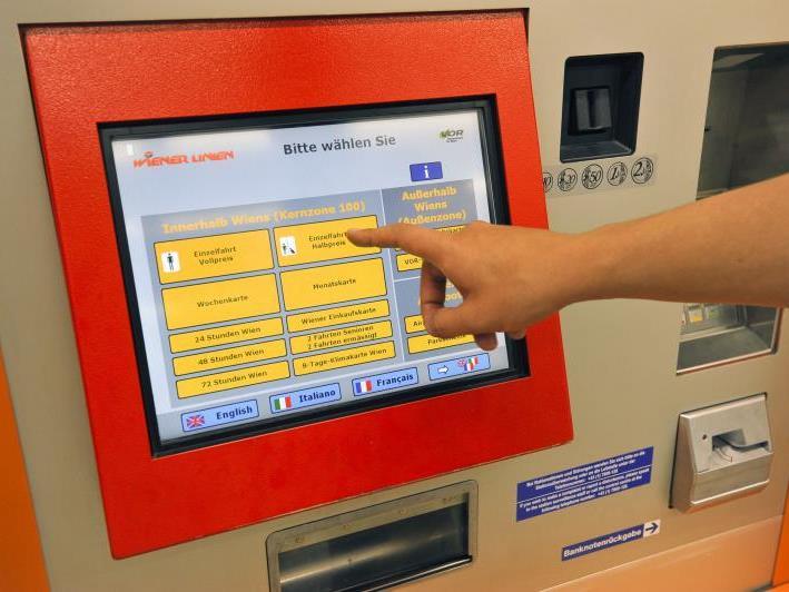 Die Ticketautomaten der Wiener Linien streiken bei der Bankomatzahlung.