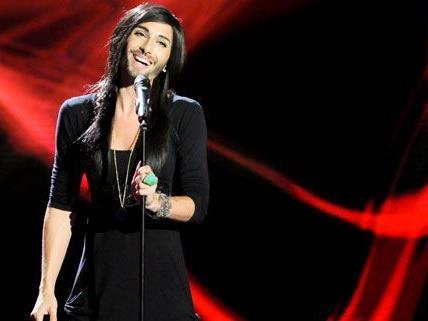 Auch das Wiener Ausnahmetalent Conchita Wurst will sich durch's Halbfinale singen.