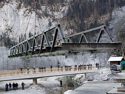 Die fertig gestellte Rechenbrücke erschließt einen wichtigen Zugang zum Wiener Hochquellwasser