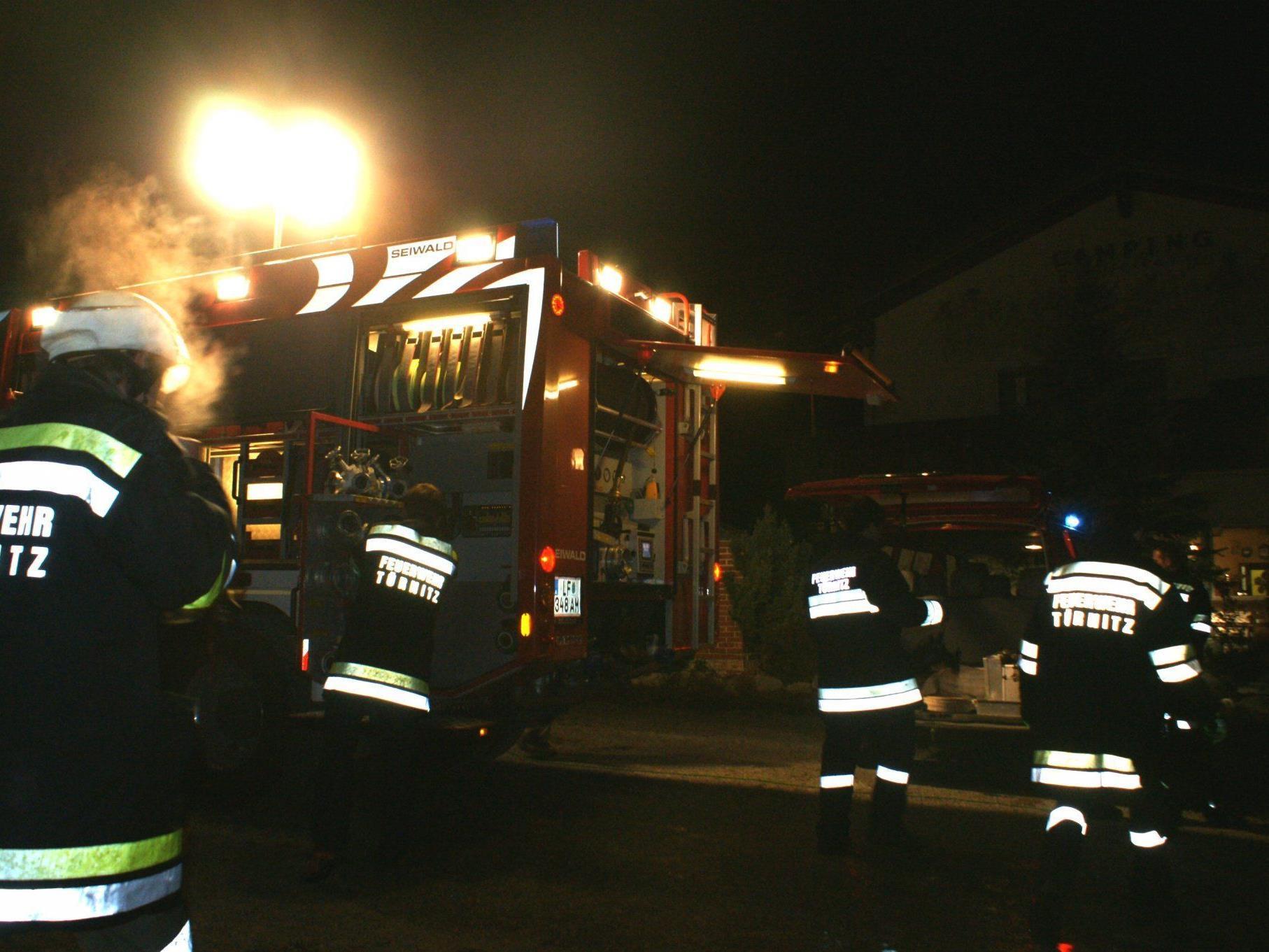 Eine Kellersauna fing in Türnitz Feuer.