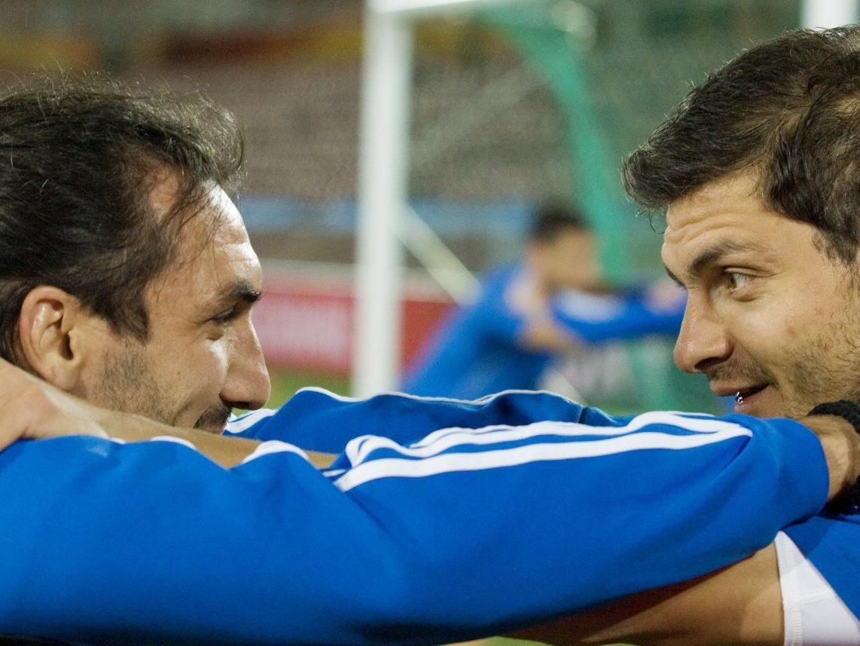 Griechenland-Stars Sotirios Kirgiakos (L) und Angelos Charisteas (R) gastieren in Altach.