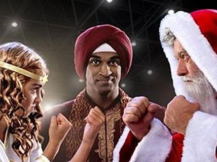 Darüber können viele nicht lachen: Telering bläst zum brutalen Weihnachtsmann-Christkind-Fight