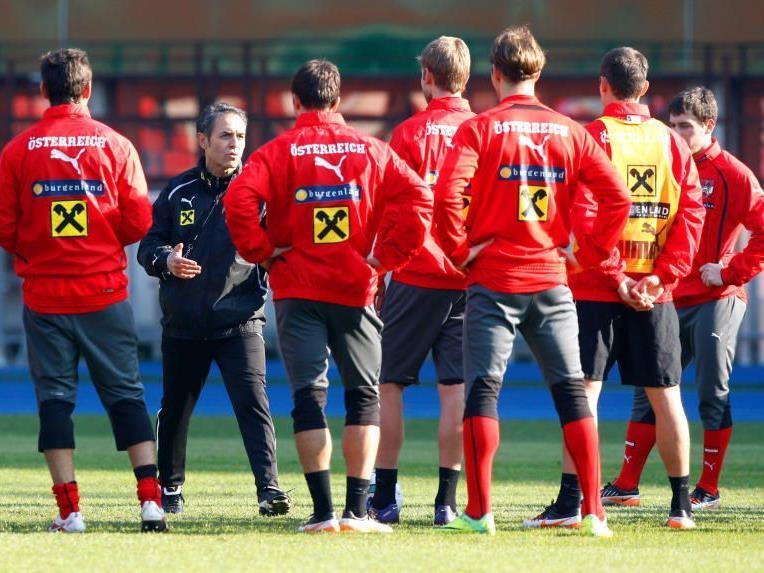 Mit seinen klaren Anweisungen hat ÖFB-Neo-Teamchef Marcel Koller die Spieler in den Trainingseinheiten für sich gewinnen können.