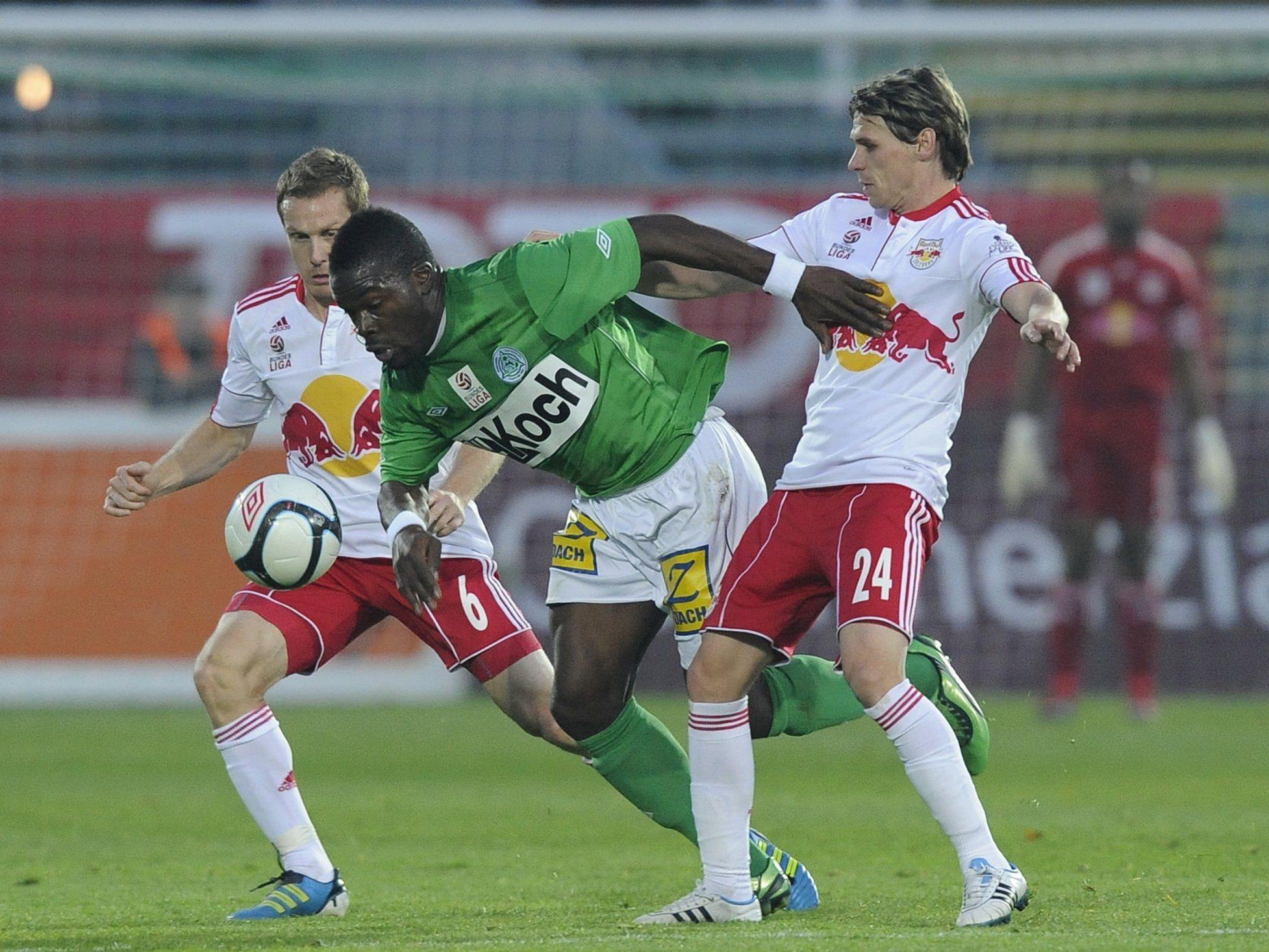 Die Bullen mussten sich am Sonntag gegen Mattersburg geschlagen geben.