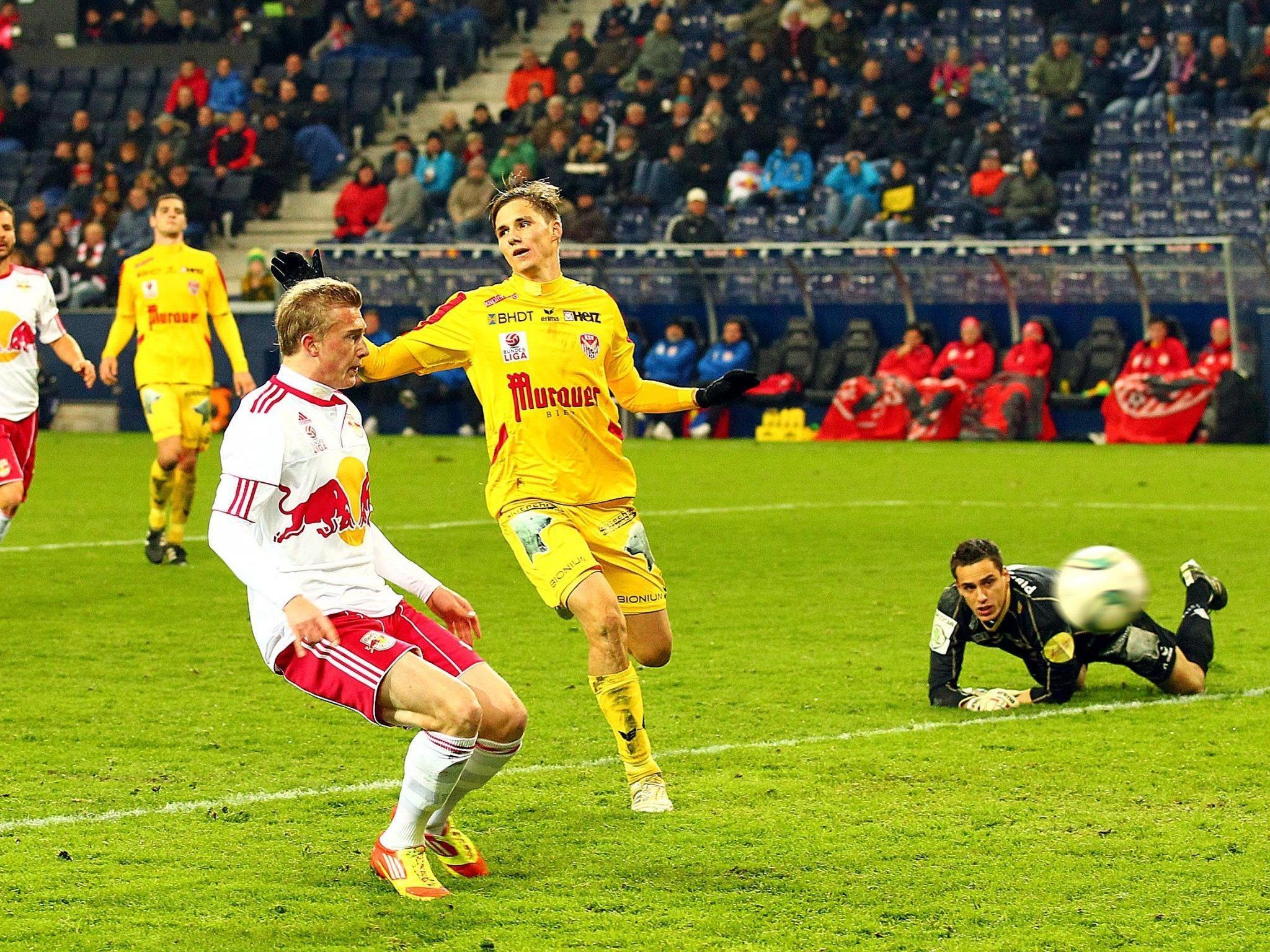 Red Bull Salzburg fertigte den Kapfenberger SV mit 6:0 ab.