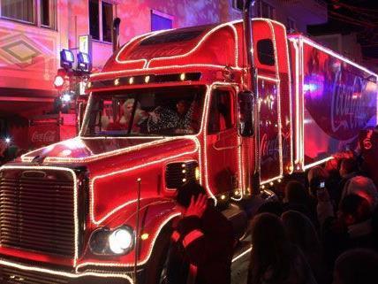 Coca-Cola Weihnachtstruck besucht Niederösterreich