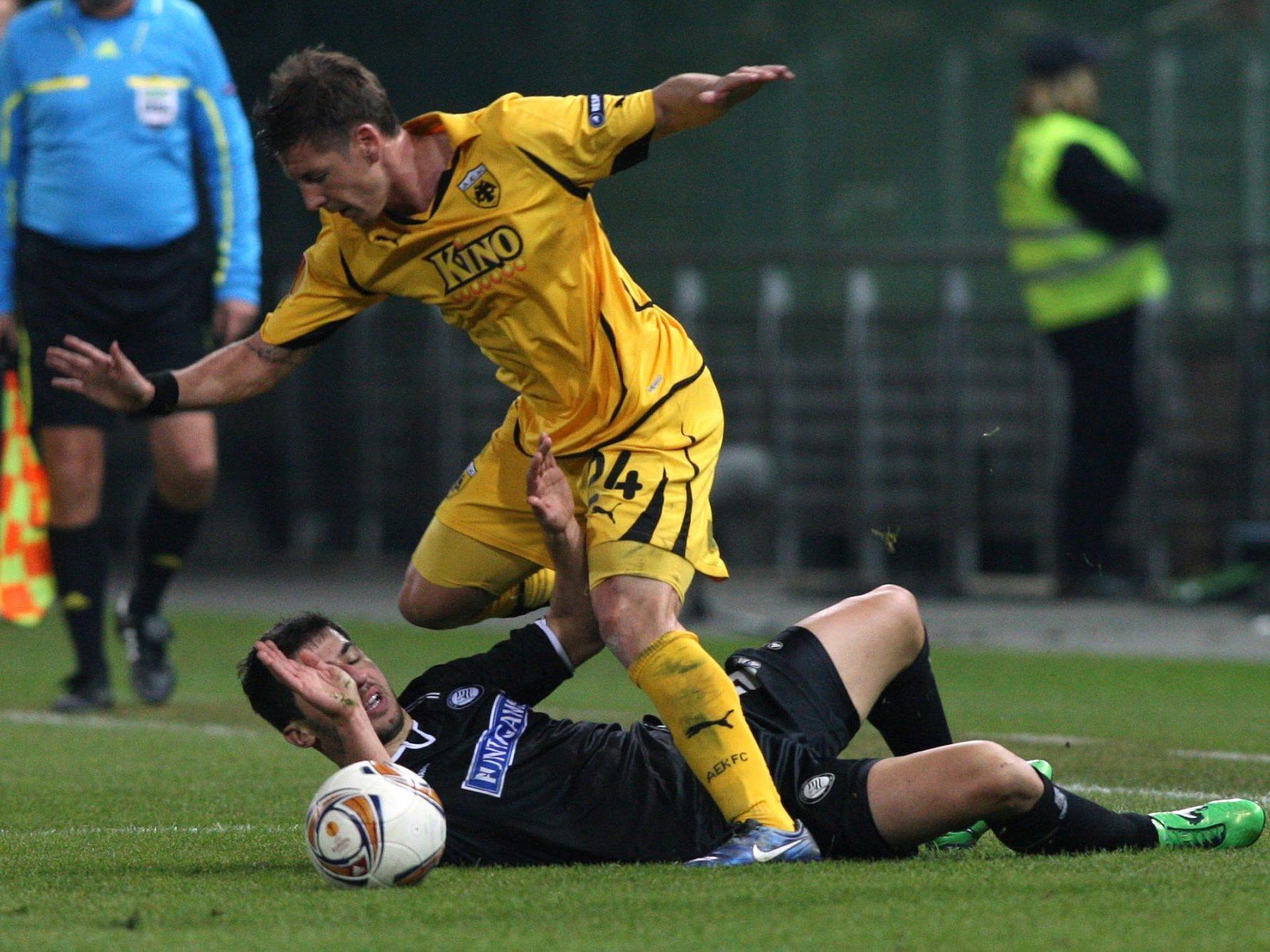 Fußball-Meister Sturm Graz enttäuschte in der EL.