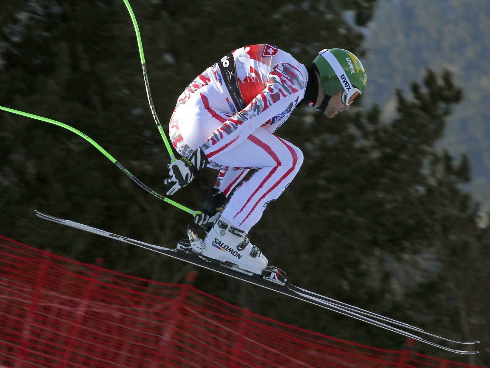 Klaus Kröll belegt Rang drei in der Bormio-Abfahrt.