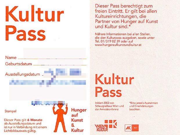 Der Kulturpass ermöglicht sozial Schwächeren den Besuch zahlreicher kultureller Veranstaltungen