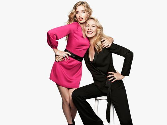 Georgia May Jagger & Jerry Hall in der H&M Christmas-Kampagne