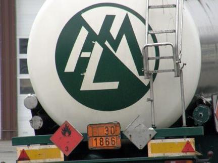 Gefahrguttransporter gestoppt