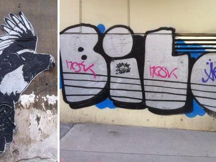 Überall findet man sie, die namenlose Straßenkunst in Wien.