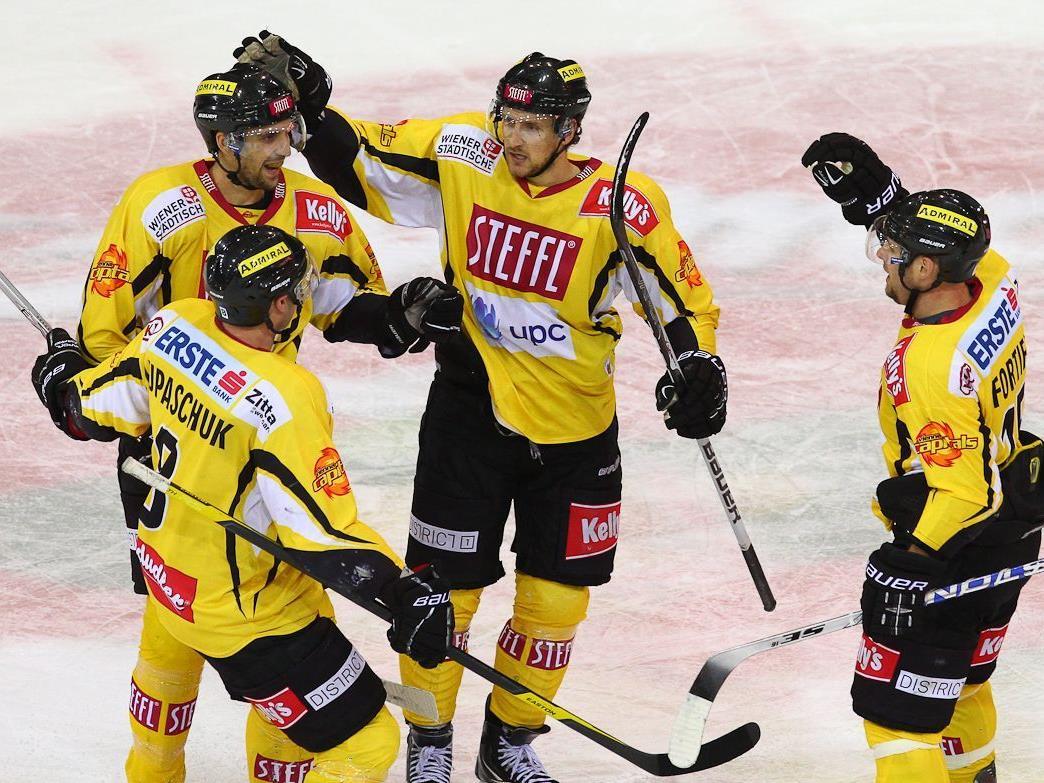 Die Vienna Capitals konnten ihren zweiten Sieg in Serie feiern.