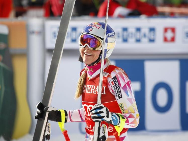 Lindsay Vonn sicherte sich am Freitag den Sieg in Lake Louise.