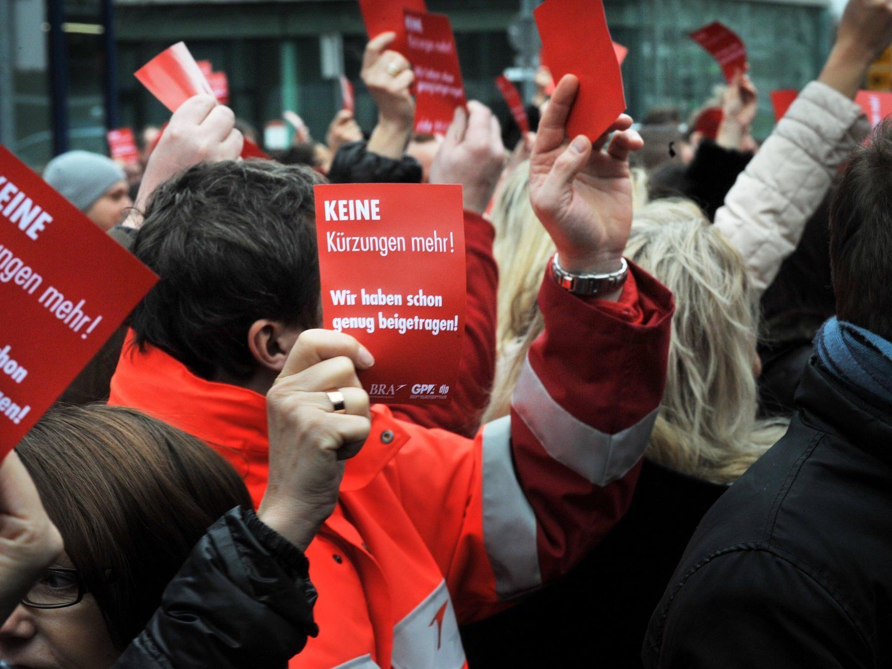 Das Bodenpersonal protestiert