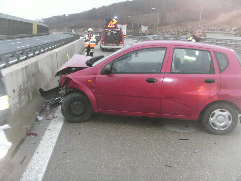 Glimpflich verlief dieser Unfall auf der A1