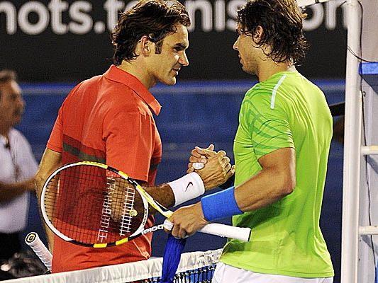 Rafael Nadal stellt in direkten Duellen gegen Roger Federer auf 18:9.