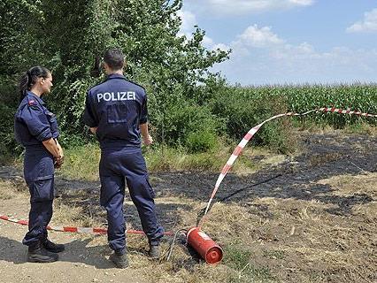 Die Polizei am Tatort in Nickelsdorf