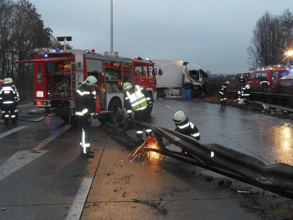 Am Freitag ereignete sich ein Serienunfall auf der A2.