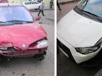 Beide Unfall-Fahrzeuge wurden in Neunkirchen beschädigt