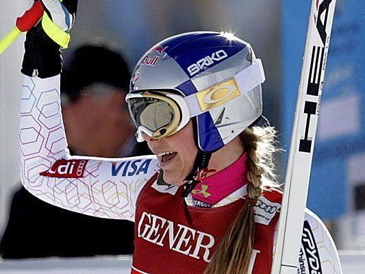 Lindsey Vonn setzt sich in der Super-Kombi in St. Moritz durch.