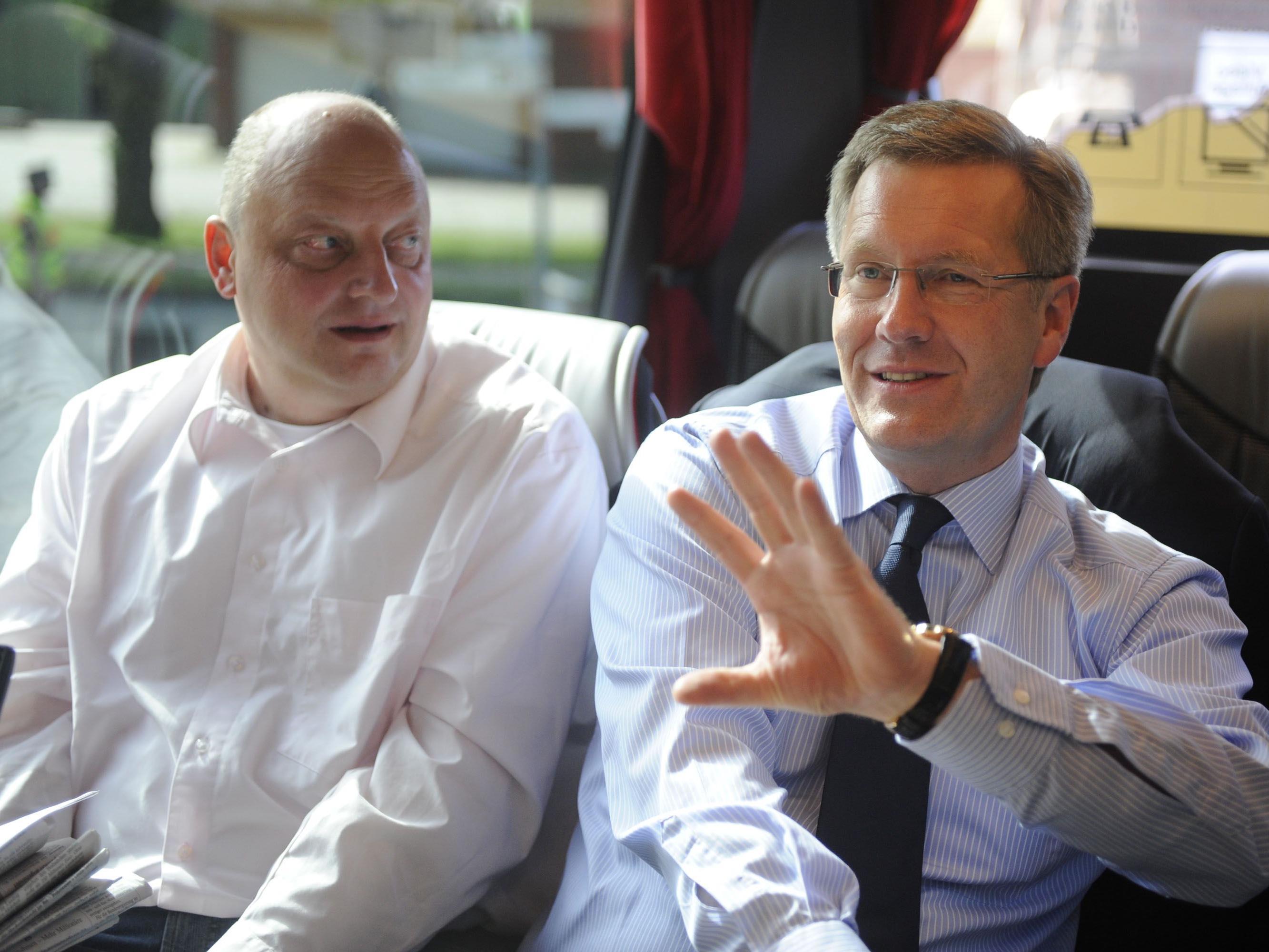 Bilder aus besseren Tagen: Wulff und sein Ex-Sprecher Glaeseker.