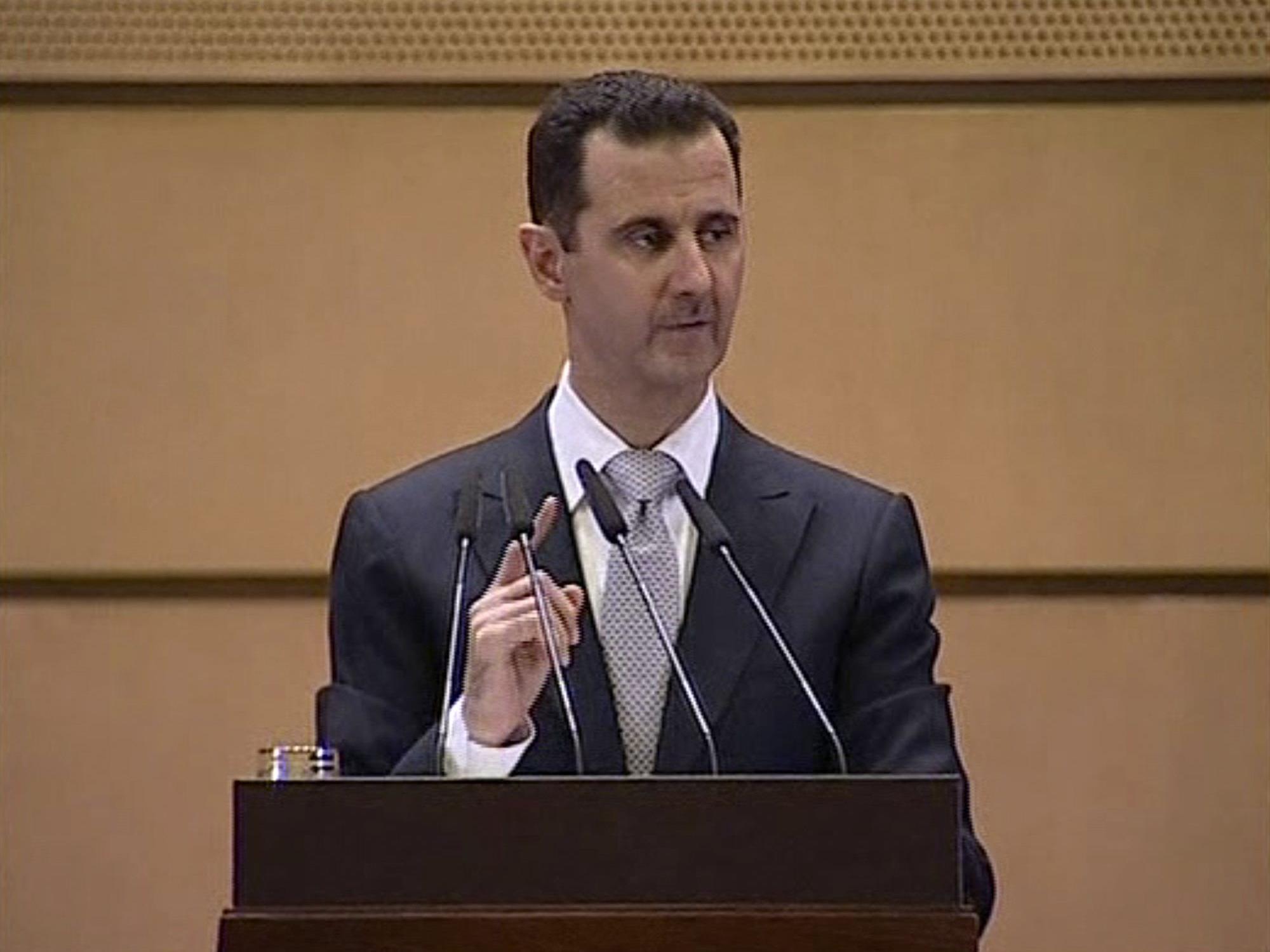 Assad gibt dem Ausland die Schuld für die Aufstände.