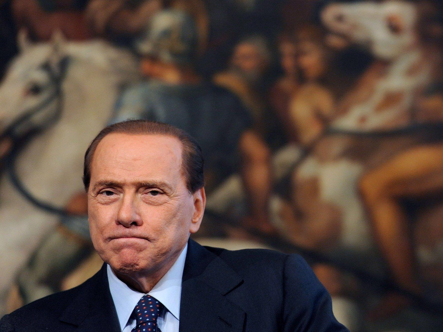 Berlusconi hat es zum Waschlappenmotiv geschafft