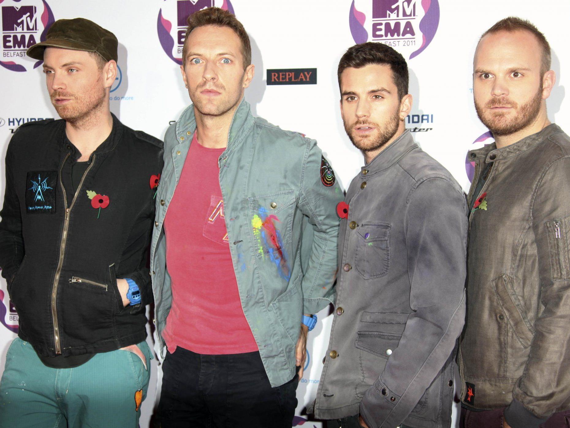 Sind bekannt für ihre spektakulären Konzerte und Auftritte - Coldplay.