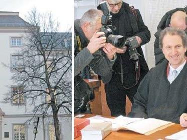 Am Amtsgericht Lindau wurde der Prozess um Peter Grottian von der Presse mit Spannung erwartet.