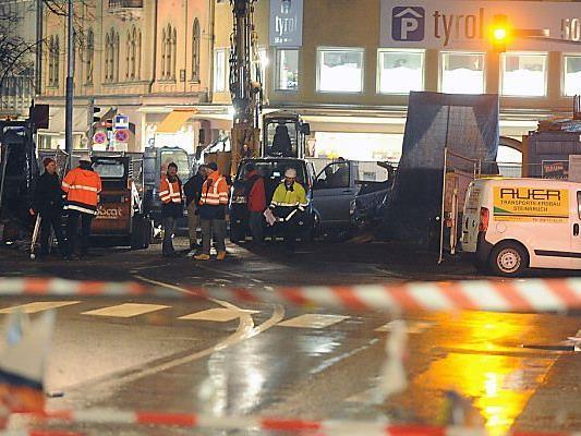 Evakuierung rund um den Bozner Platz