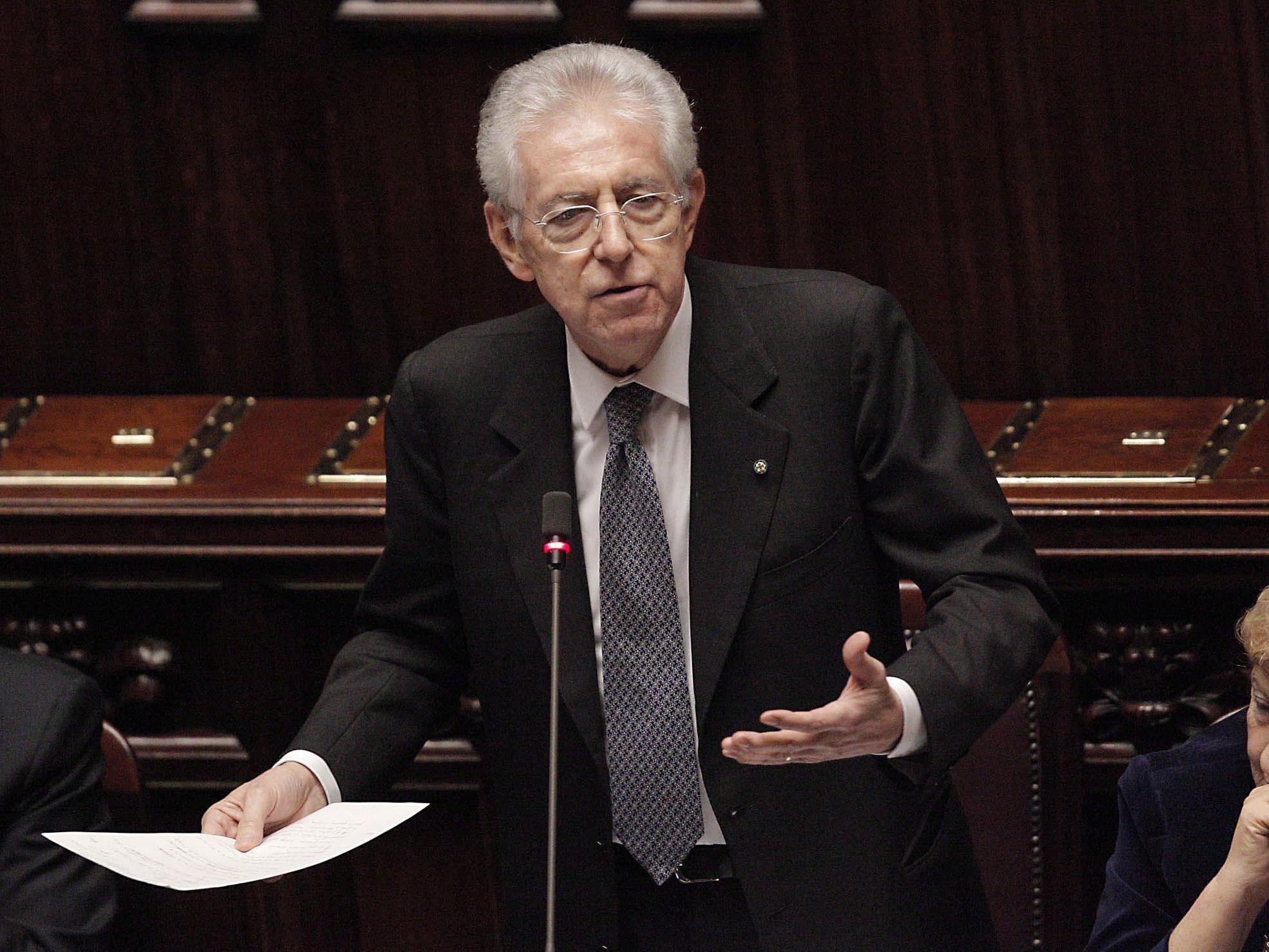 Die Regierung Monti will auch die Zahl der Abgeordneten reformieren.