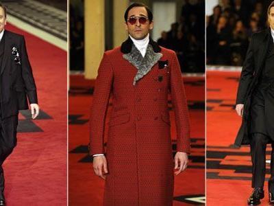 Tim Roth, Adrien Brody und Willem Dafoe für Prada auf dem Catwalk