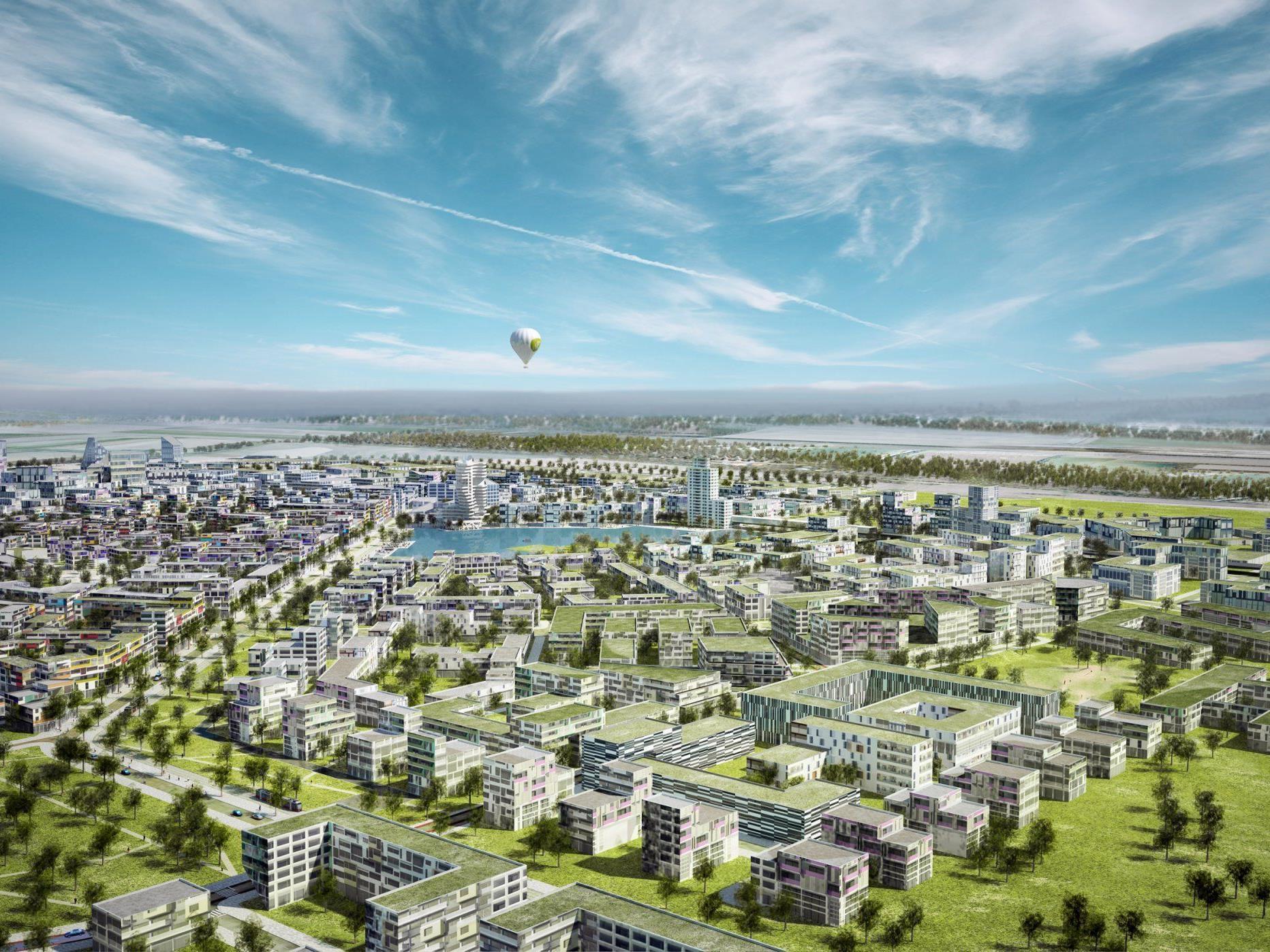 So soll Aspern einmal aussehen - ca. 2030 wird es so weit sein