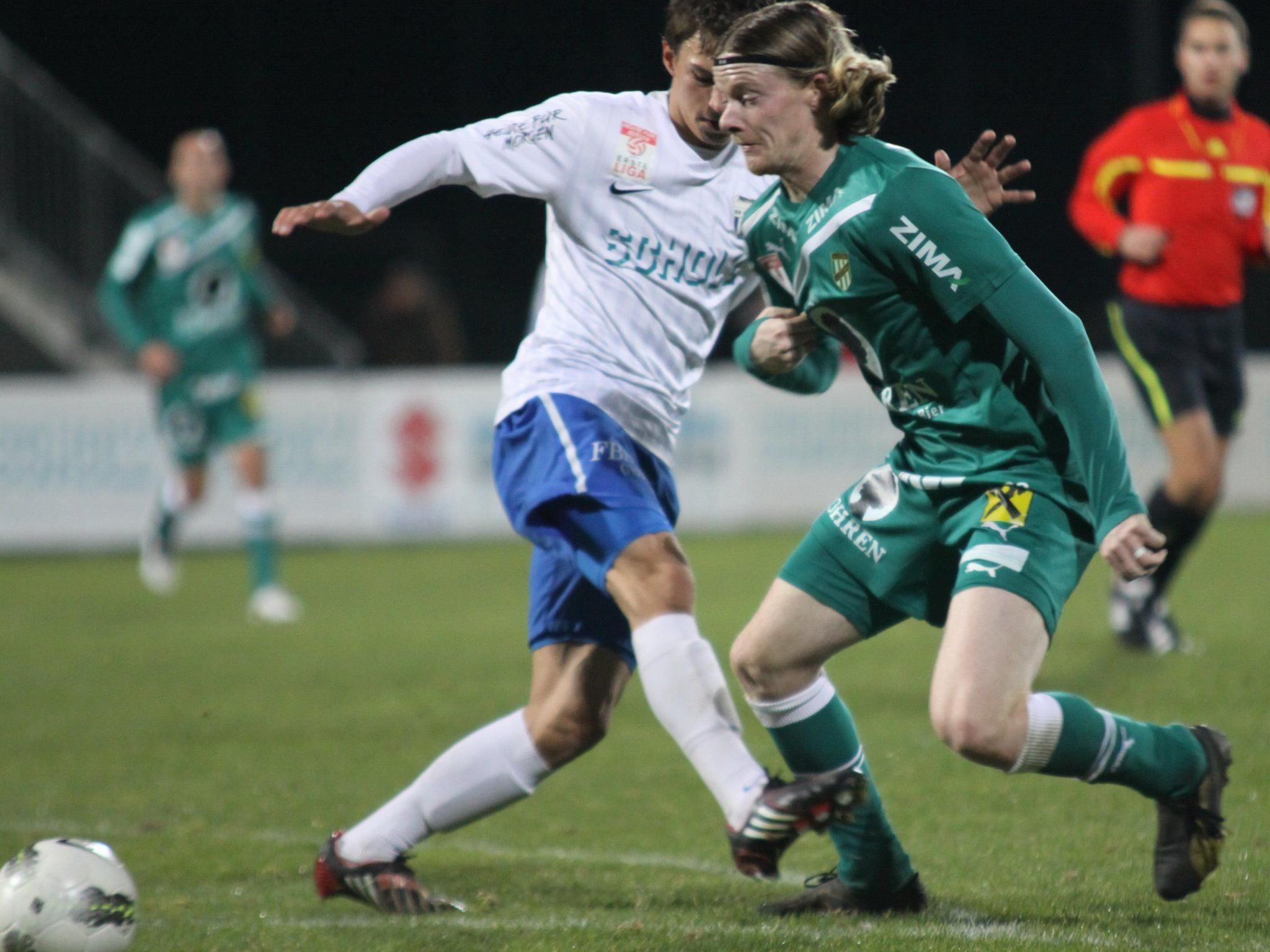 Austria Lustenau spielt am Freitag gegen St. Gallen.
