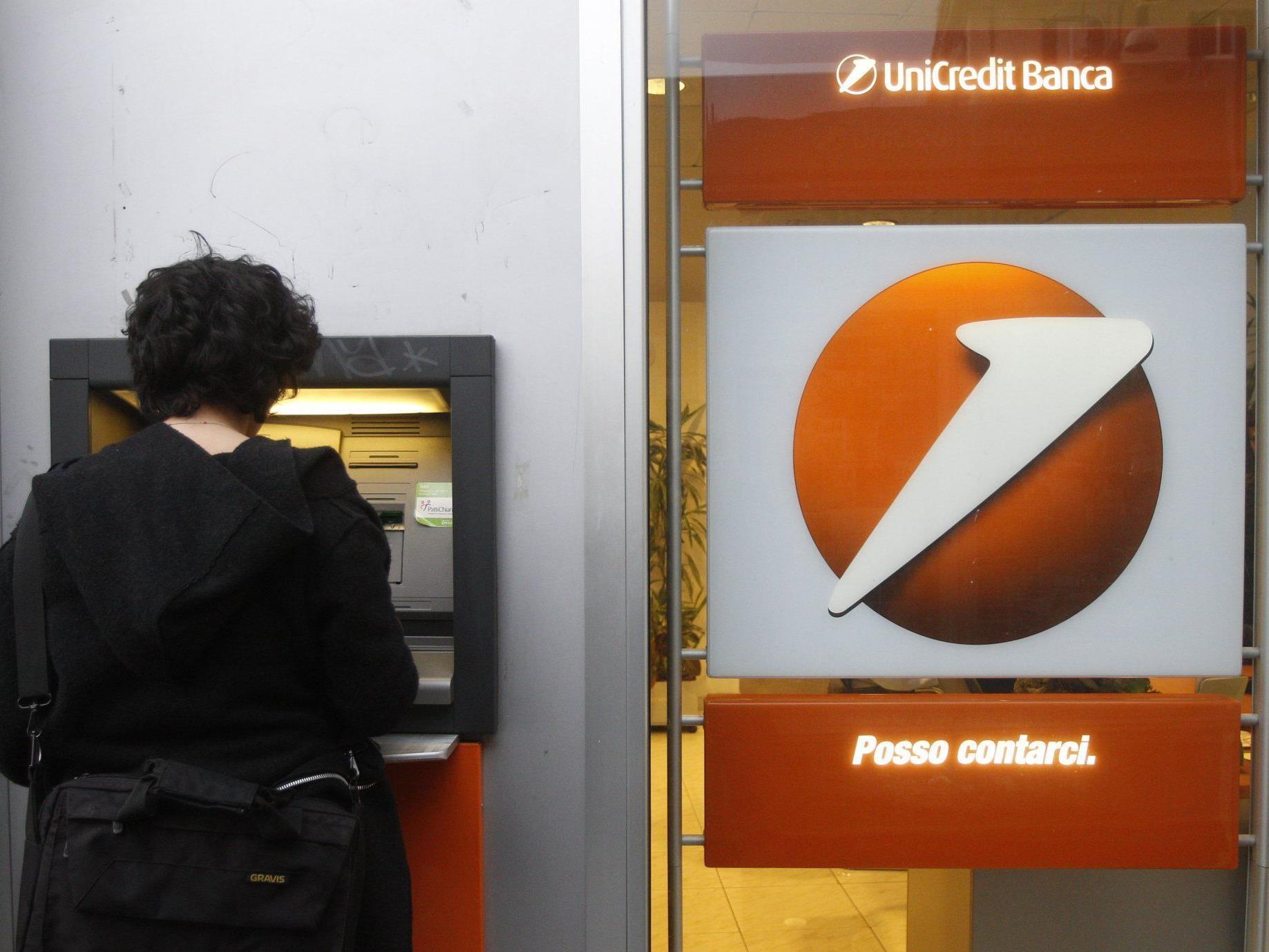 Seit letzter Woche brache die UniCredit-Aktie um 40 Prozent ein.