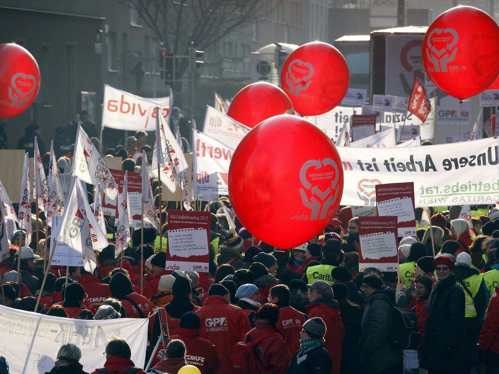 Aktionstag für bessere Gehälter im Sozialbereich