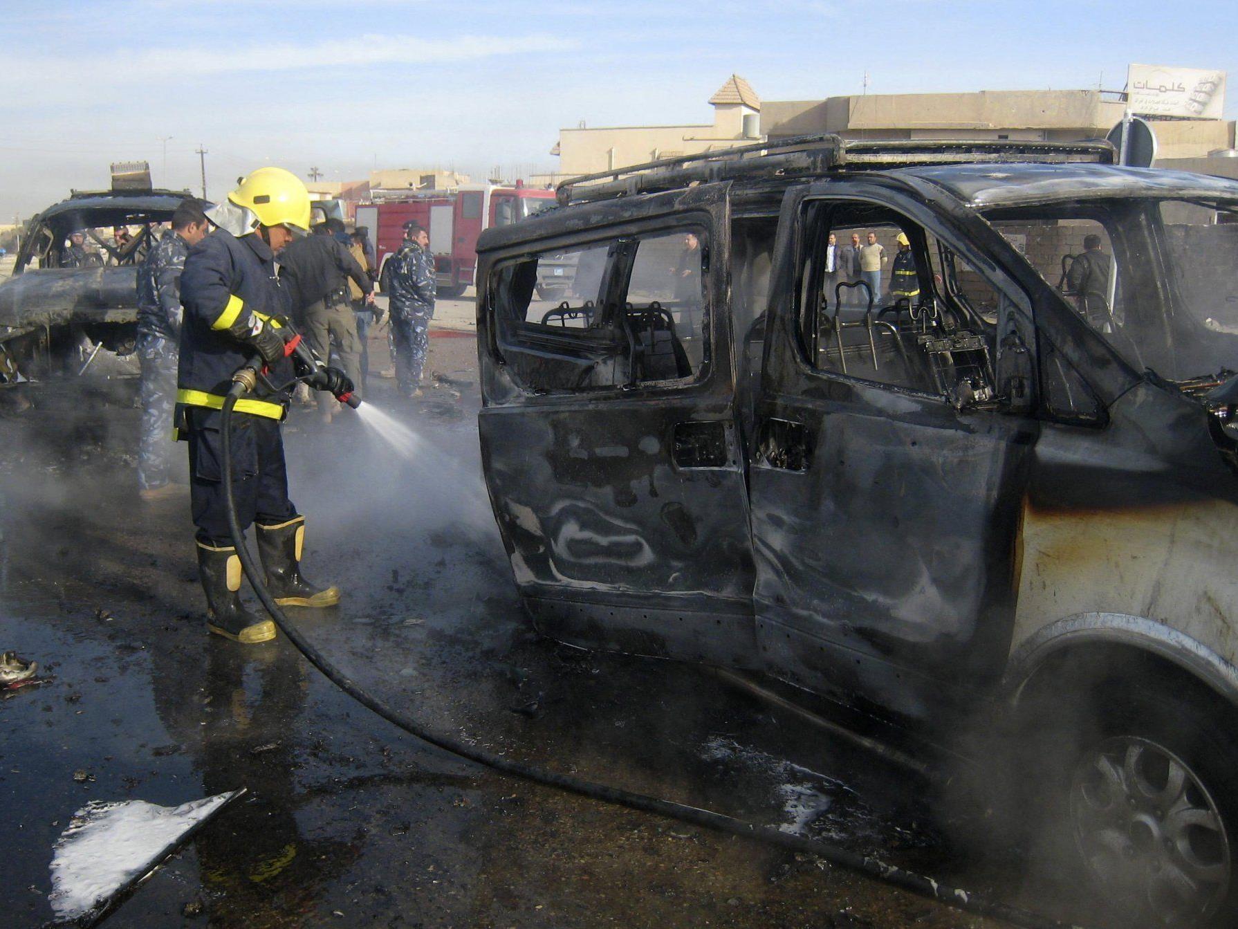 Bei dem Anschlag in Irak wurden Angaben zufolge mindestens 50 Menschen getötet.