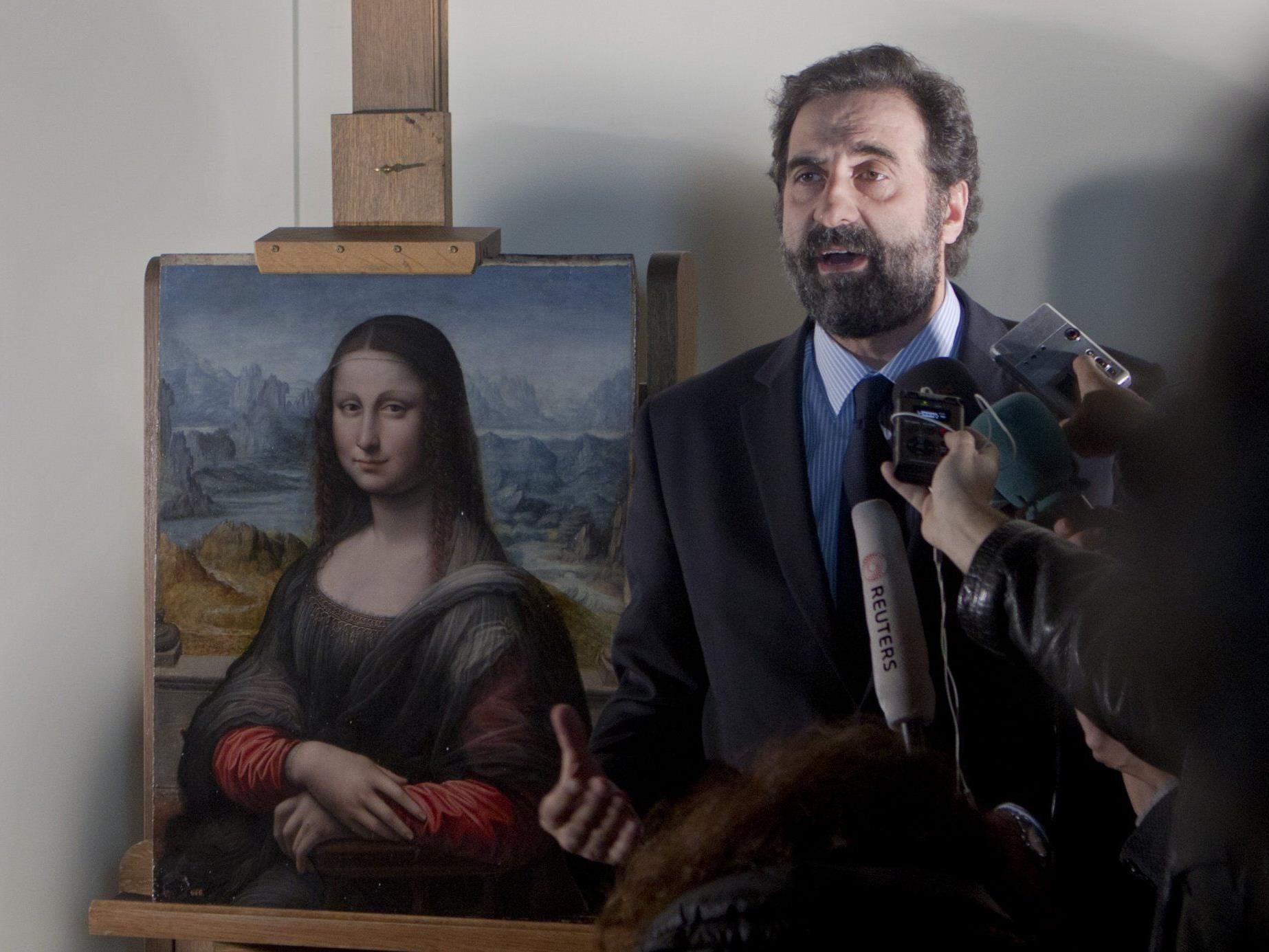 "Kopie der ""Mona Lisa"" im Prado-Museum."