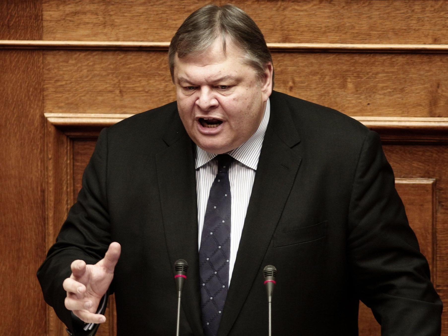 Der griechische Finanzminister Evangelos Venizelos.