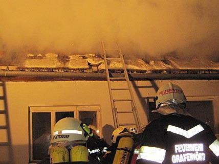 Feuerwehr-Einsatz: Bei einem leer stehenden Bauernhaus in Seebarn am Wagram brannte der Dachstuhl