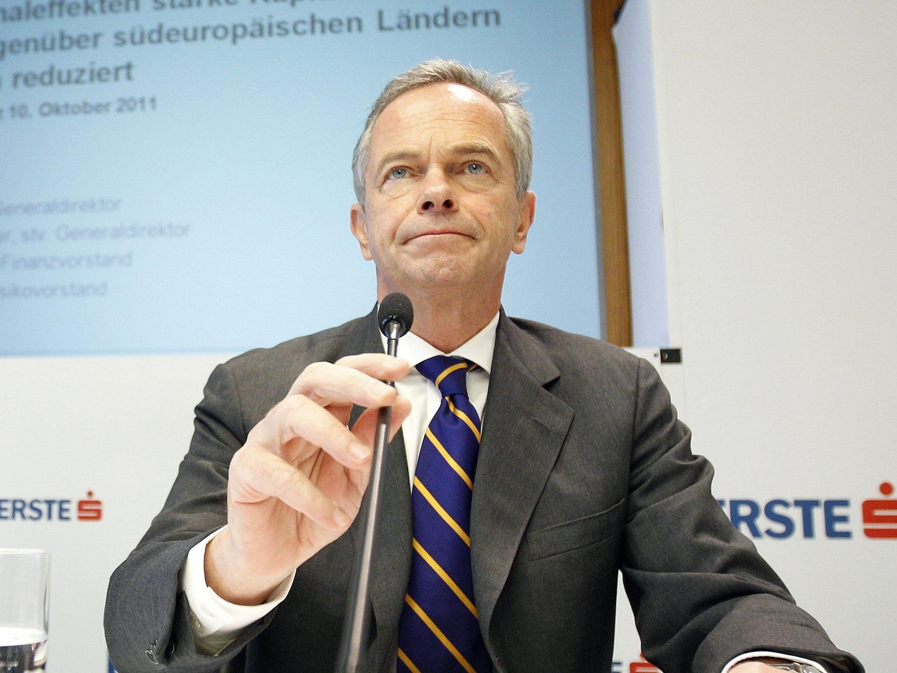 Die Erste Group verliert im Jahr 2011 fast 720 Millionen Euro.