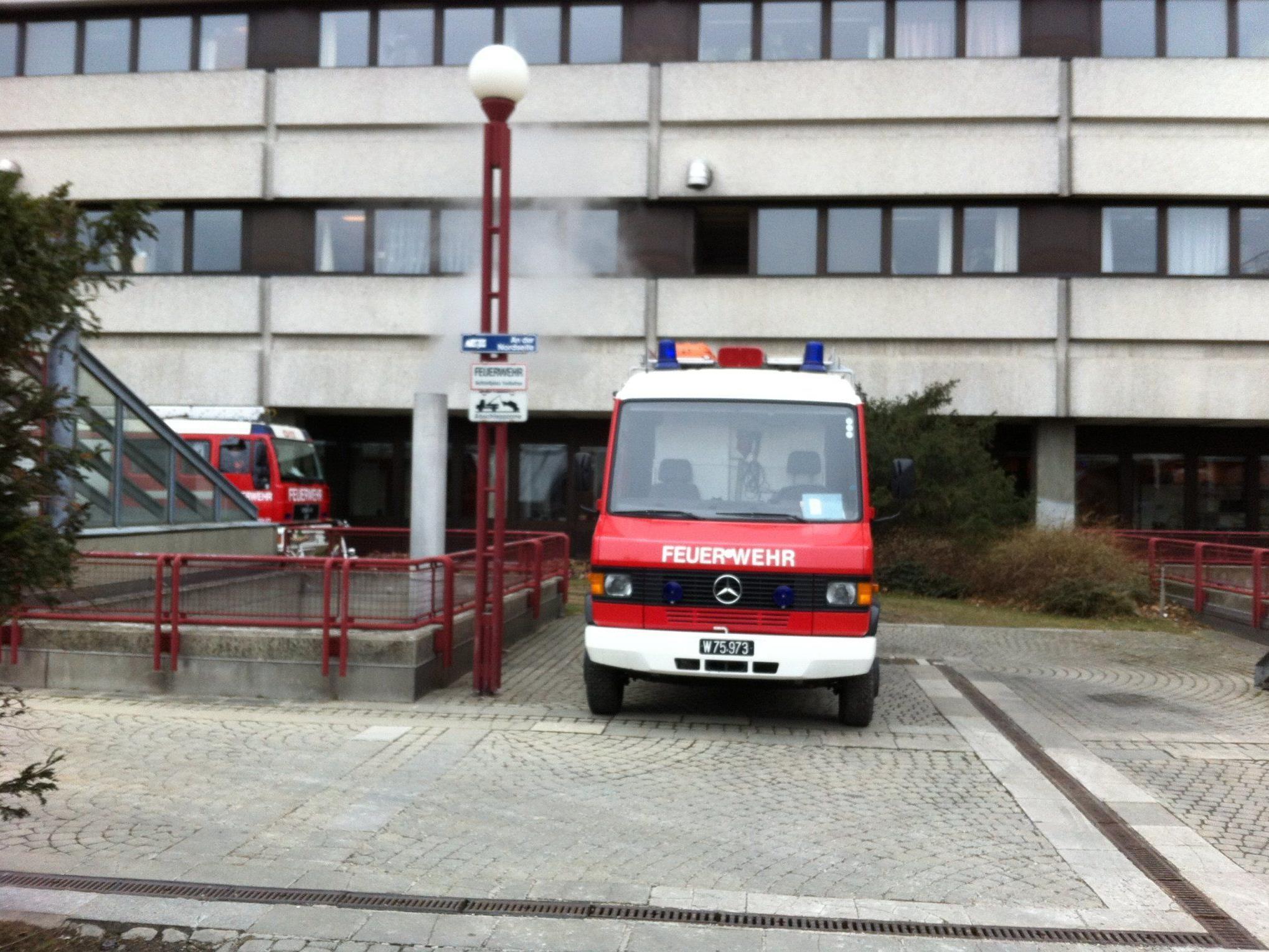 Rauchentwicklung, aber keinen Gasgeruch berichtet der Vienna.at Reporter vor Ort
