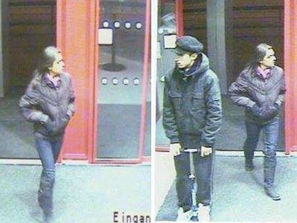 Dieser Mann und diese Frau sollen nach dem Raub in Landstraße Geld vom Konto des Opfers behoben haben