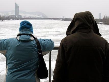 Ein 14-jähriges Mädchen wollte die Donau überqueren und brach auf dem zugefrorenen Gewässer ein.