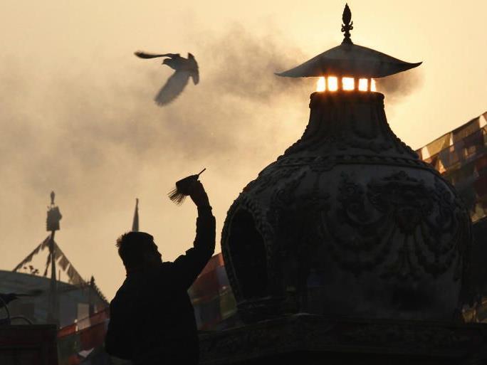 Eine Stupa in Nepal