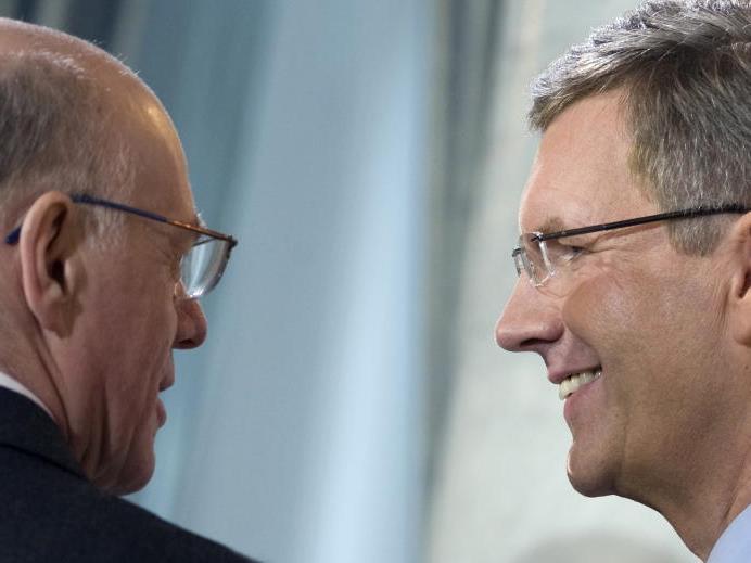 """Der """"alte"""" Bundespräsident mit seinem möglichen Nachfolger"""