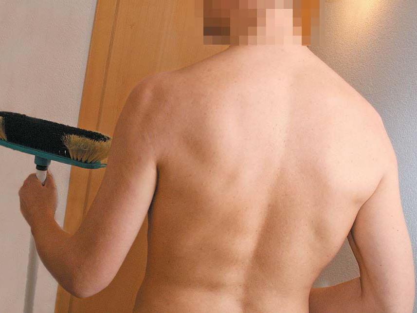 """""""Einmal wurde ich von einem Paar nackt an der Haustüre empfangen – er bereits in freudiger Erregung!"""" (Roland, Nacktputzer)"""